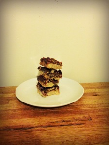 Stacks of pecan pie bars