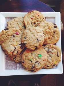 Big Batch PB M&M Cookies