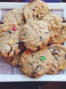 PB M&M Cookies